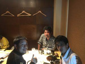 東京ヴェルディのスタッフと会食