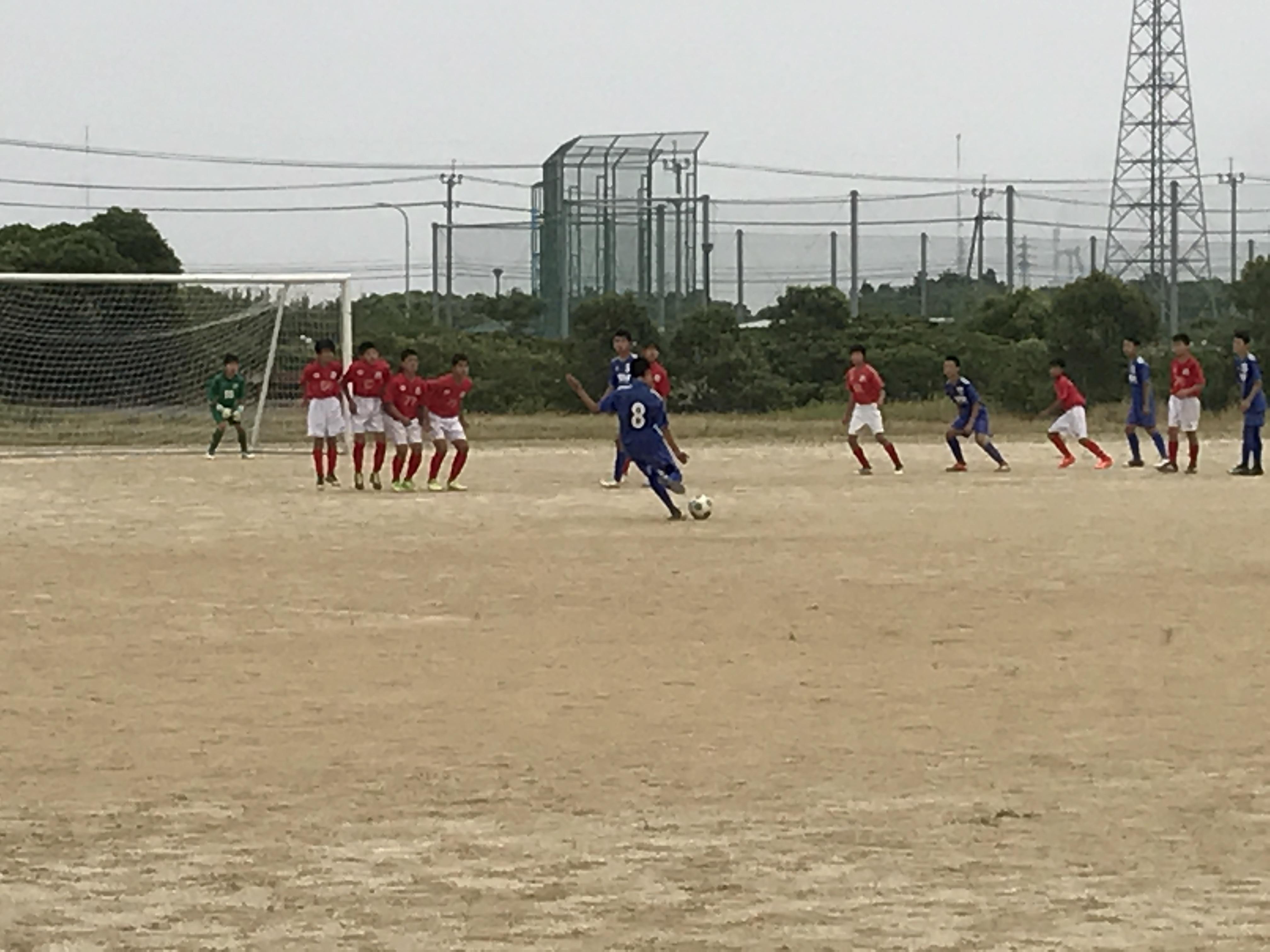 U13/14格上との練習試合を実施!