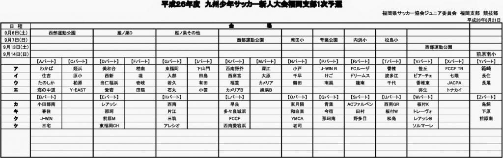 U-11新人戦予定