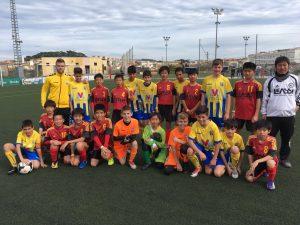 スペイン遠征4日目 Alevin A(4-6年生混合チーム)バルセロナから大会会場となる街へ移動しトレーニングマッチ2試合目を実施!