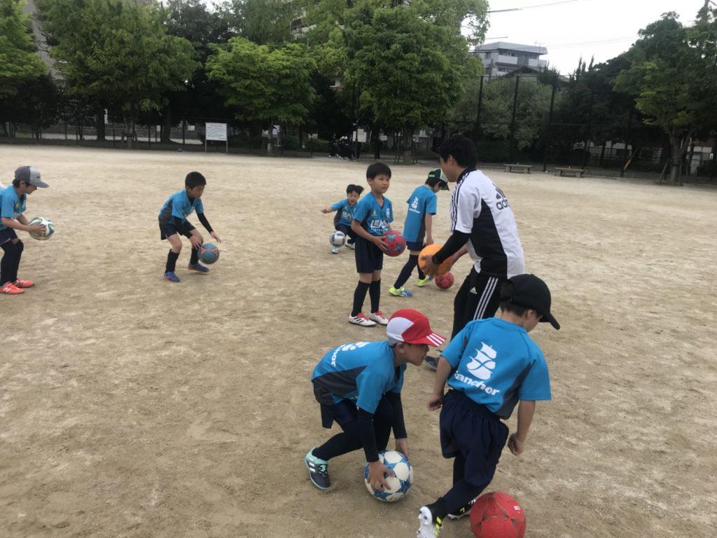 レアッシ福岡サッカースクール in 三宅公園!!