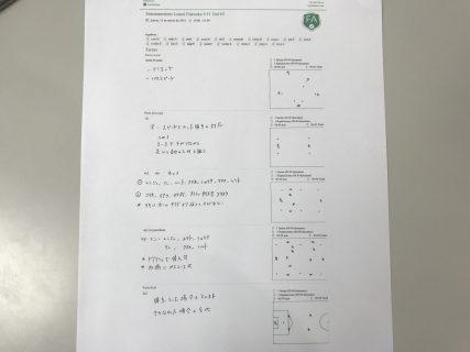 今日の練習メニュー007!