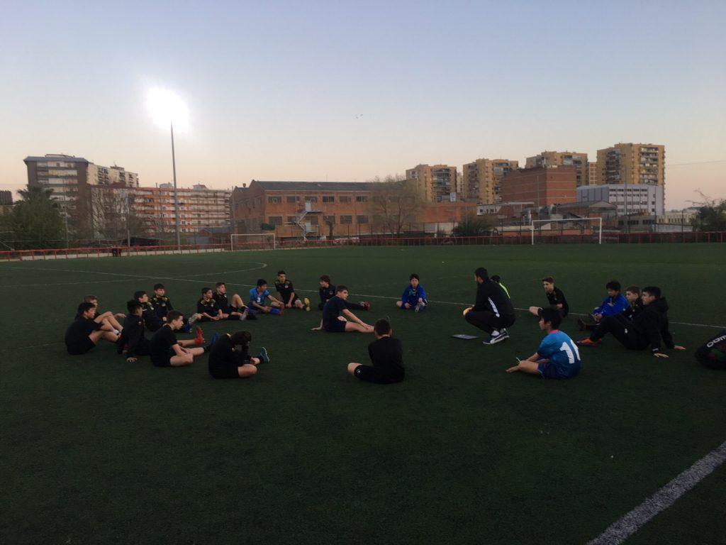 バルセロナ遠征 5日目(3/29)午後 ジュニアユース 練習参加