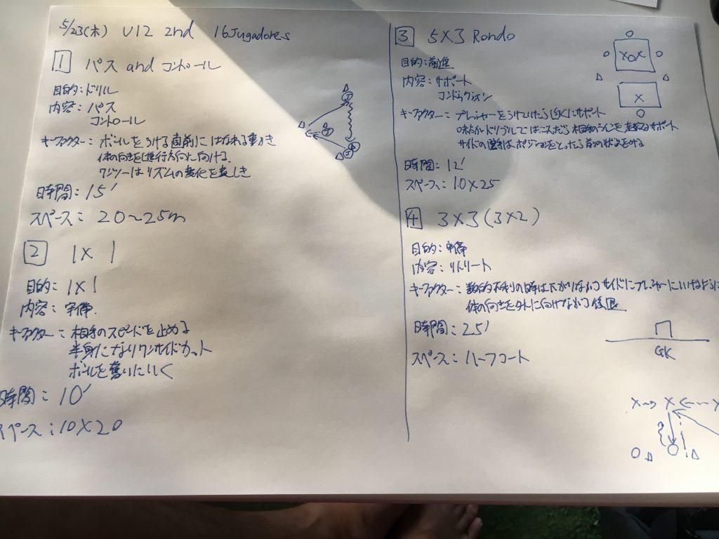 今日の練習メニュー032  5/23木