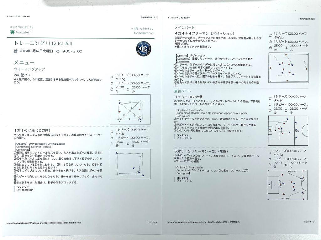 今日の練習メニュー026 (5/14火)