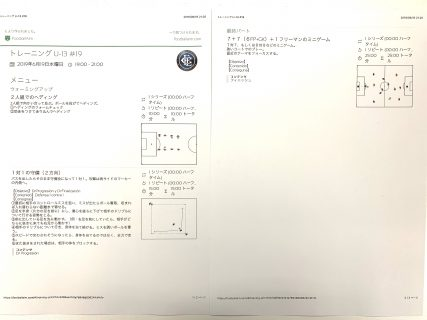今日の練習メニュー046(6/19 水)