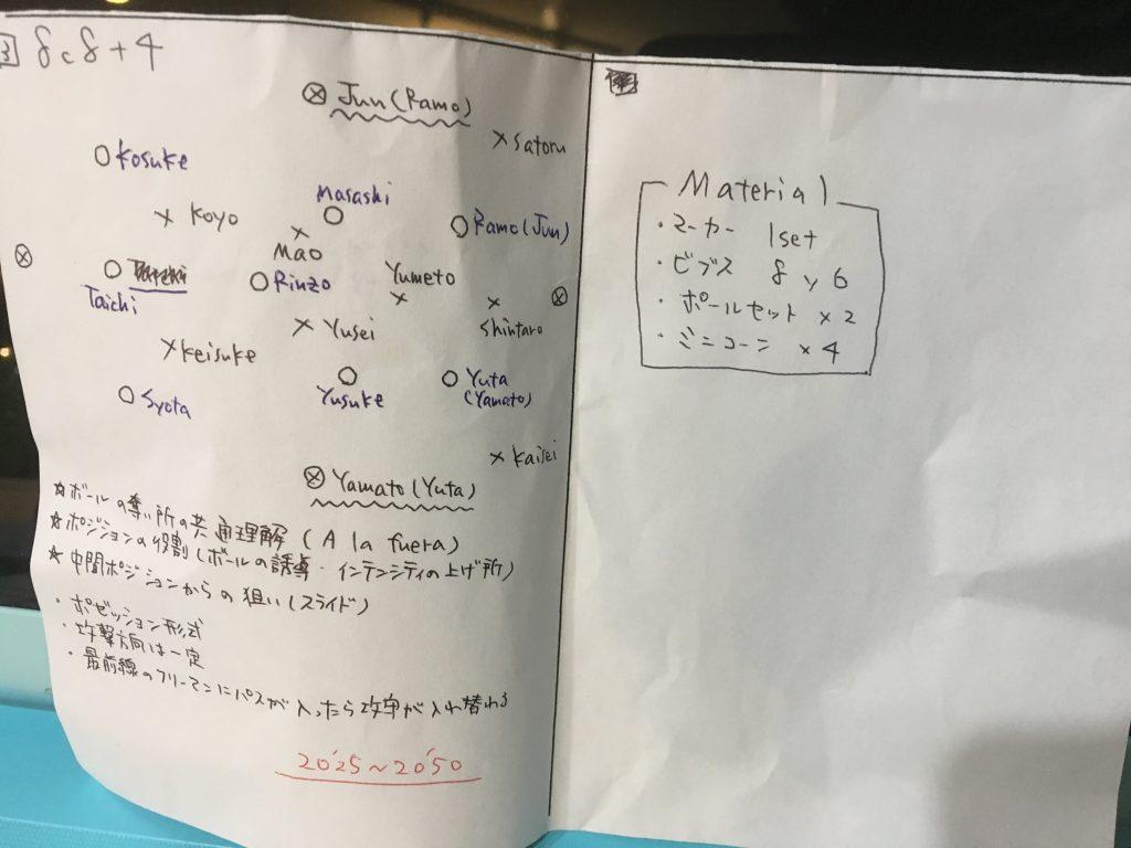 今日の練習メニュー036 6/5(水)