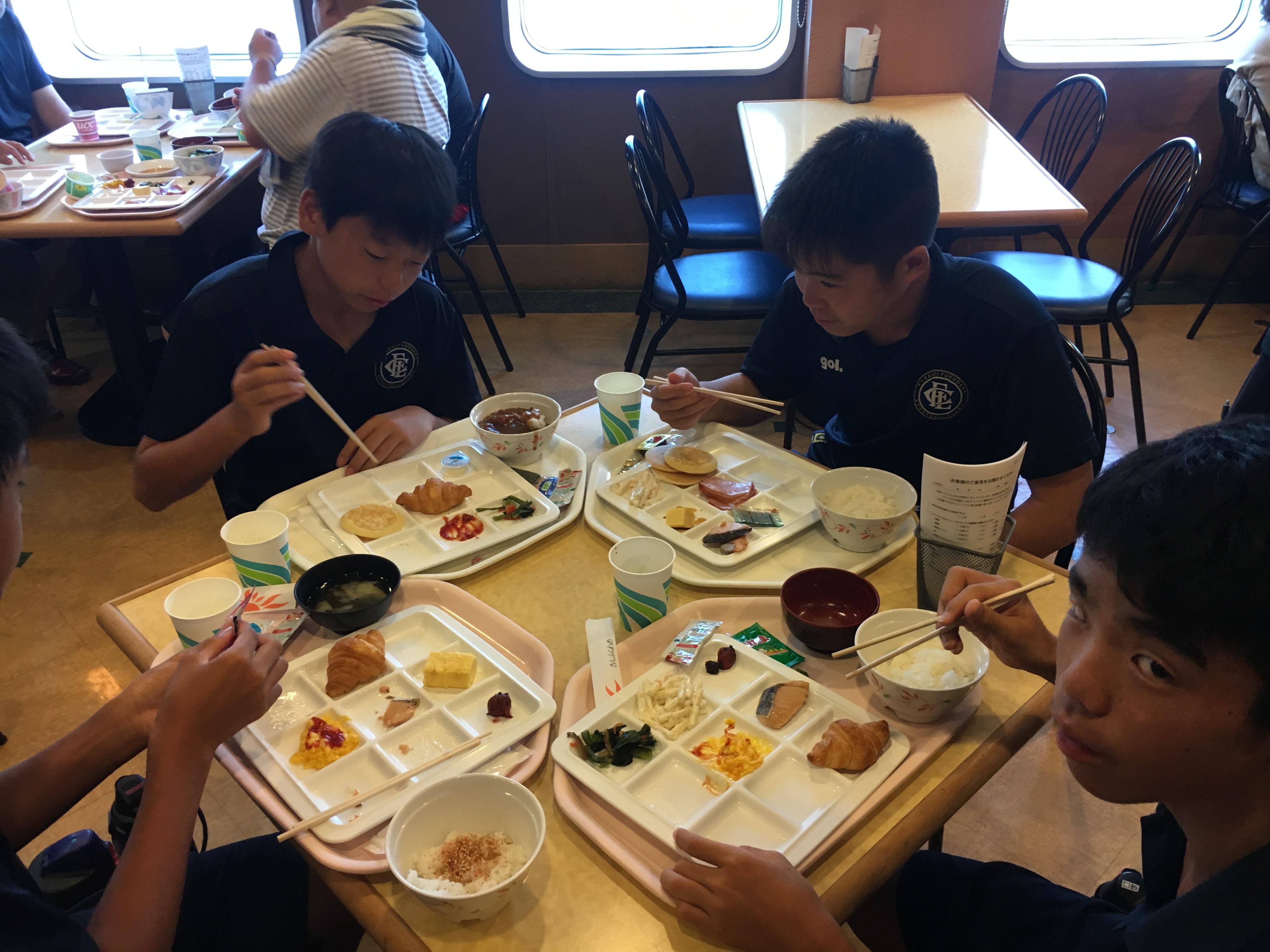 ジュニアユース U15 U14 大阪遠征 2日目 朝〜朝食編〜