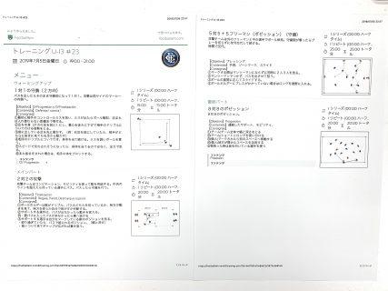 今日の練習メニュー&MVP 054   7/5(金)