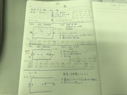 きょうの練習メニュー&MVP 071 (9/6金)