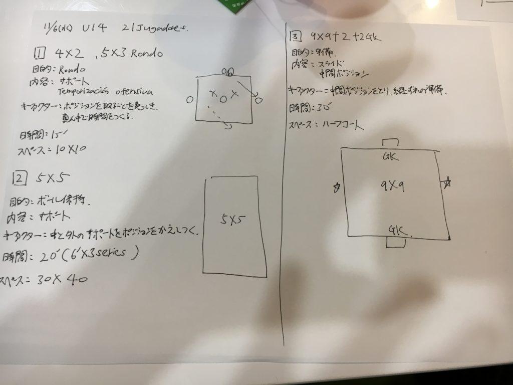 きょうの練習メニュー107&MVP 11/7木