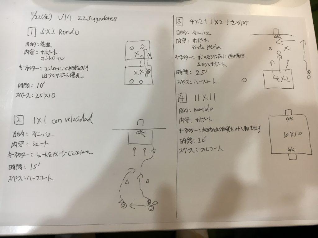 今日の練習メニュー&MVP #116! (11/22金)