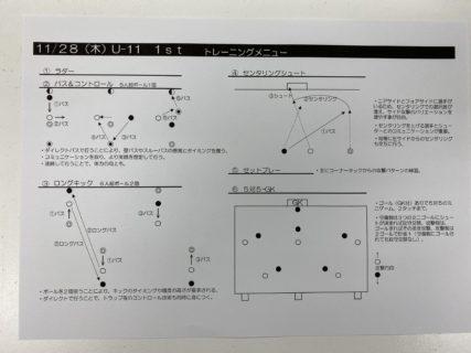 きょうの練習メニュー&MVP 119