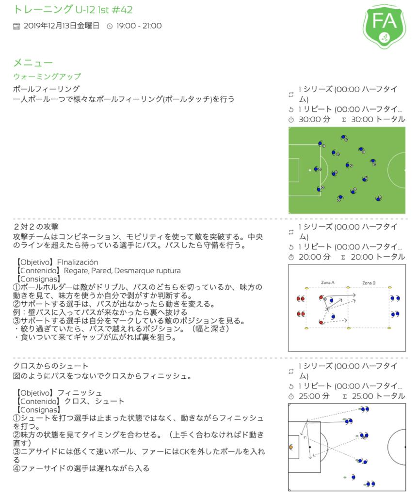 きょうの練習メニュー128&MVP 12/12 木