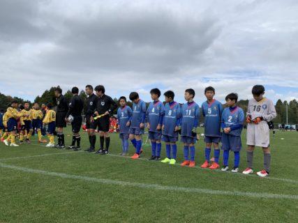 U-11新人戦福岡県大会ベスト4進出を逃す(vs上西郷)