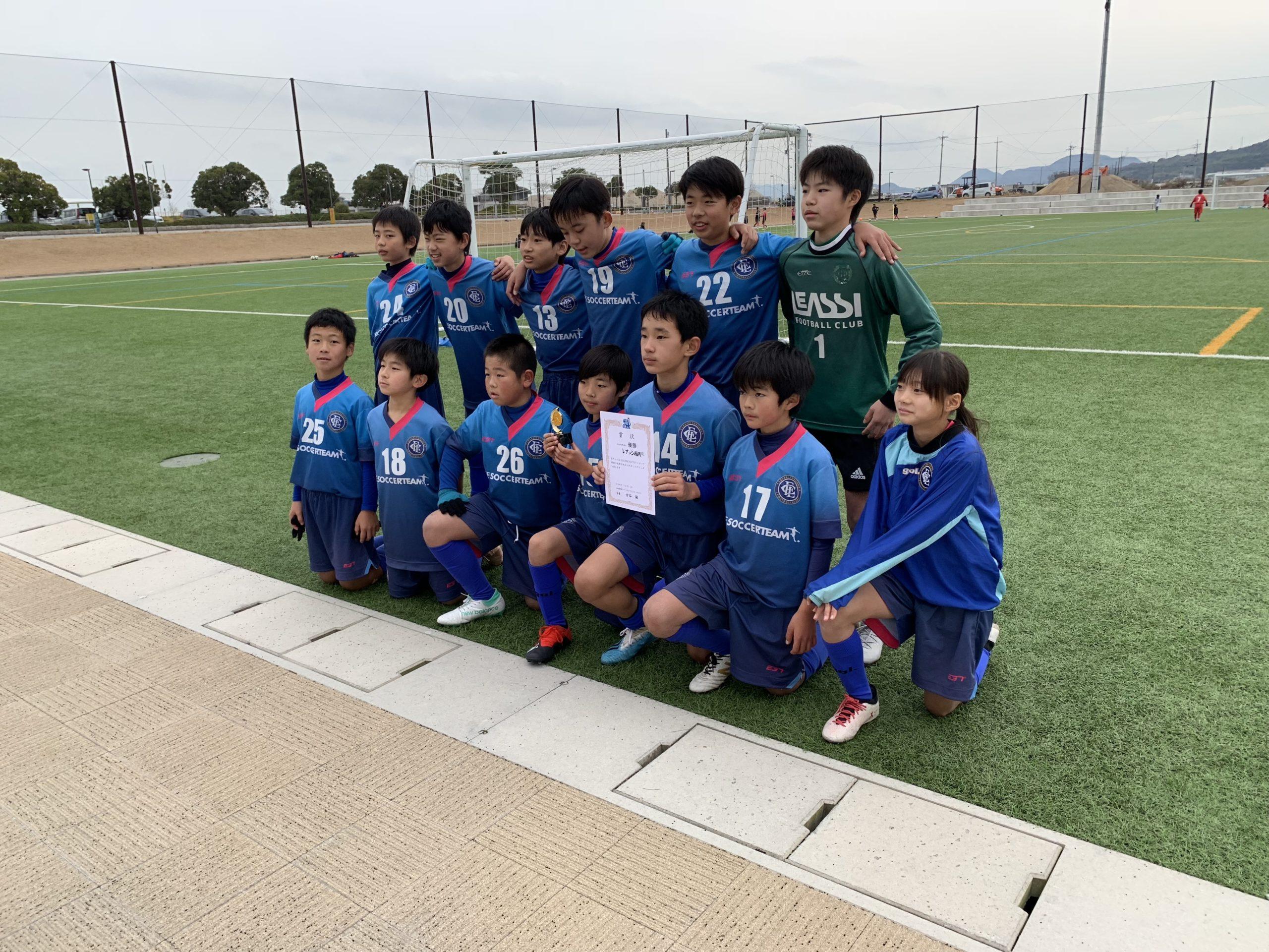 U-12-1st   山口・下関遠征  ブルーローズカップ 2位ブロック優勝!