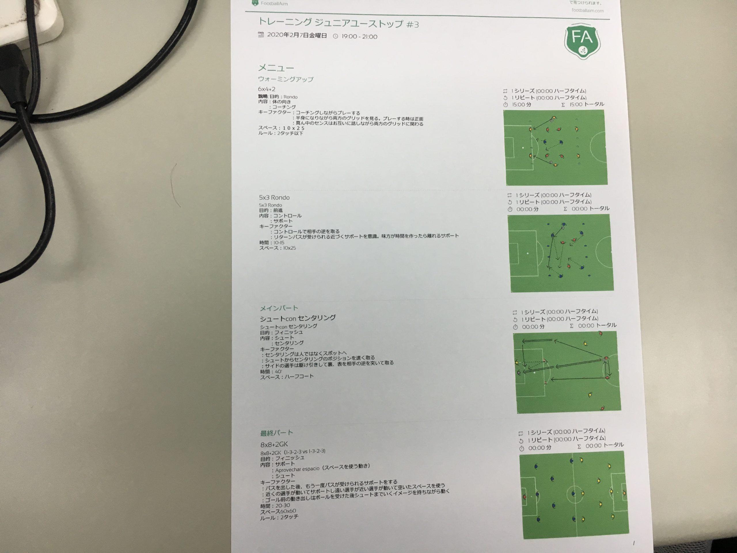 きょうの練習メニュー&MVP #149 (2/7金)